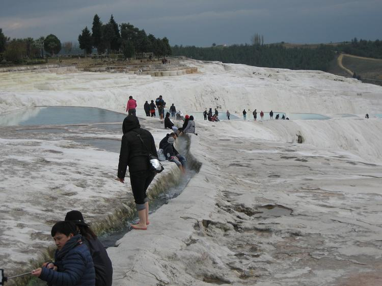 Soaking the feet at Pamukkale